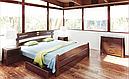Ліжко півтораспальне з натурального дерева в спальню, дитячу Кастра 120*200 Sovinion, фото 2