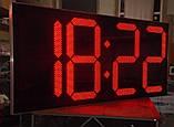 Великі годинники для фасаду з термометром 3000х1400 мм, фото 3