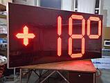 Великі годинники для фасаду з термометром 3000х1400 мм, фото 4