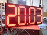 Великі годинники для фасаду з термометром 3000х1400 мм, фото 5