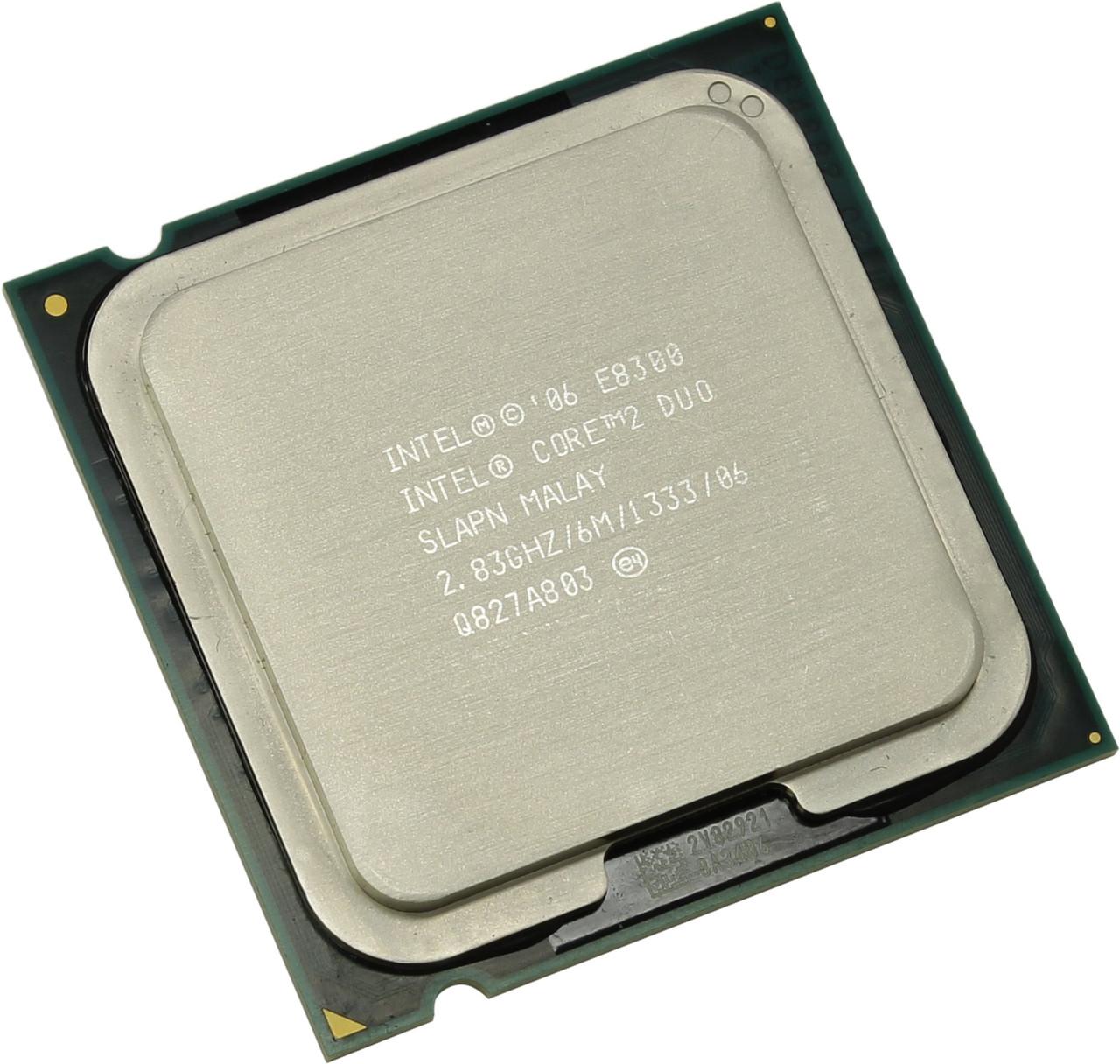 Процессор E8300 Intel Core 2 Duo  2,86 GHZ/6M/1333 + термопаста в ПОДАРОК