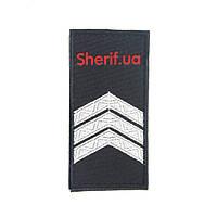 Погон Сержант полиции (1шт) на липучке