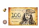 Детские пиратские деньги(купюры) 100 пиастров . Пачка пиастров- 80 шт.
