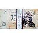 Детские пиратские деньги(купюры) 100 пиастров . Пачка пиастров- 80 шт., фото 3