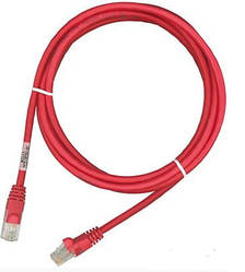 Патч-корд RJ45, 568B-P, UTP, PowerCat 5e, LSZH 3м, Красный