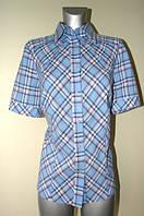 Женская клетчатая рубашка с коротким рукавом Р92