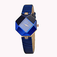 Оригинальные нежные женские часы , синие