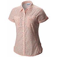a833d556a57b32 Женская рубашка Columbia CAMP HENRY™ SHORT SLEEVE SHIRT розово-белая AL7979  867 M