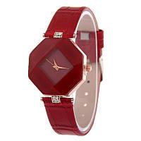 Оригинальные нежные женские часы , красные