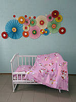 """Детское постельное белье 5 в 1 """"Hello Kitty"""", (резинка, молния, 90х120)"""