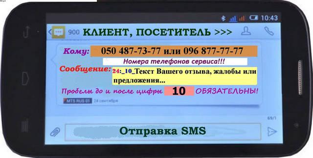 Клиент или посетитель на видном месте заведения, сайта в интернете, учреждения и т.п. видит информер с номером сервисного телефона для анонимных СМС-сообщений владельцу бизнеса. Он посылает СМС-отзыв с комментариями владельцу или менеджеру бизнеса.
