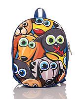Рюкзак детский синий Собачки TM XYZ, фото 1