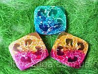Мыло-мочалка двухцветное (с люфой), фото 1