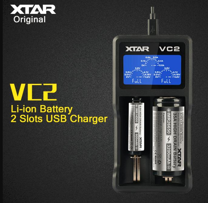 Зарядное устройство XTAR VC2 для Li-Ion аккумуляторов  двухканальное