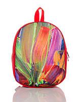 Рюкзак детский красный Краски TM XYZ