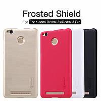 Жесткий бампер Nillkin Frosted Shield для Xiaomi Redmi 3 Pro, 3S. Черный.