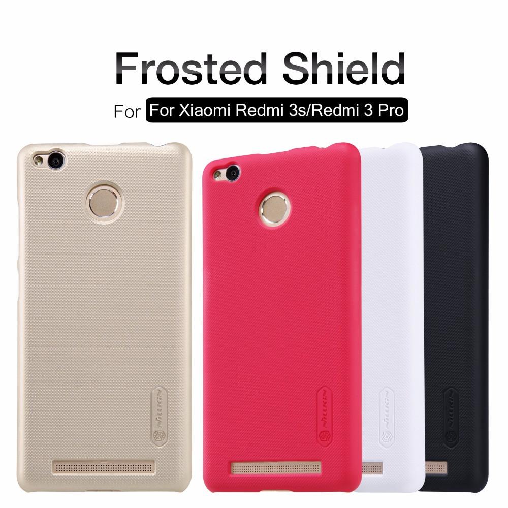 Жесткий бампер Nillkin Frosted Shield для Xiaomi Redmi 3 Pro, 3S. Золотистый.