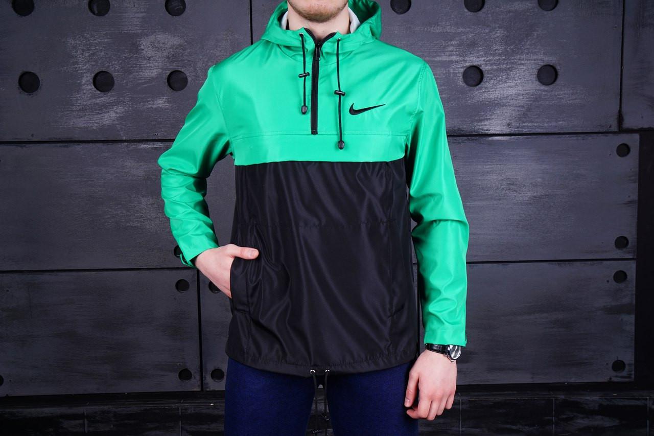 Мужской анорак Nike зеленый топ реплика