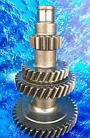 Блок шестерен промежуточного вала под стопорное кольцо/ под гайку ГАЗ-53, 3307, 52-1701050-10