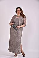 Платье женское нарядное с жакетом, 44-74 размер