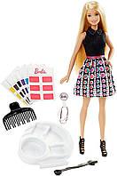 Кукла Barbie покраска волос  разноцветный  микс