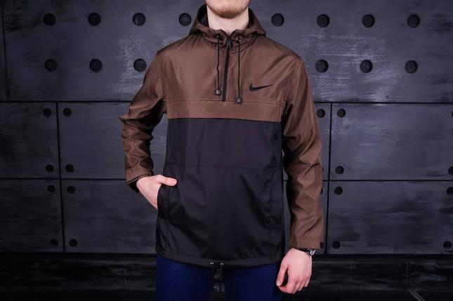 Анорак мужской Nike коричневый топ реплика, фото 2