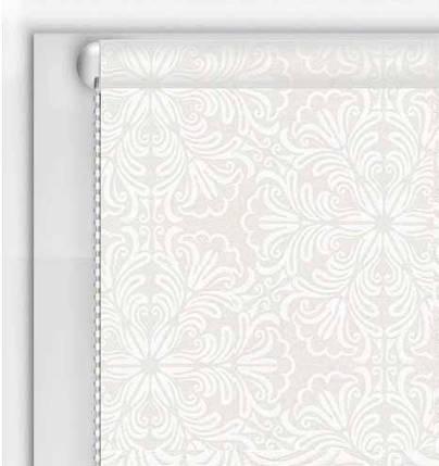 Рулонные шторы DIY Металлик Принт Белый, фото 2