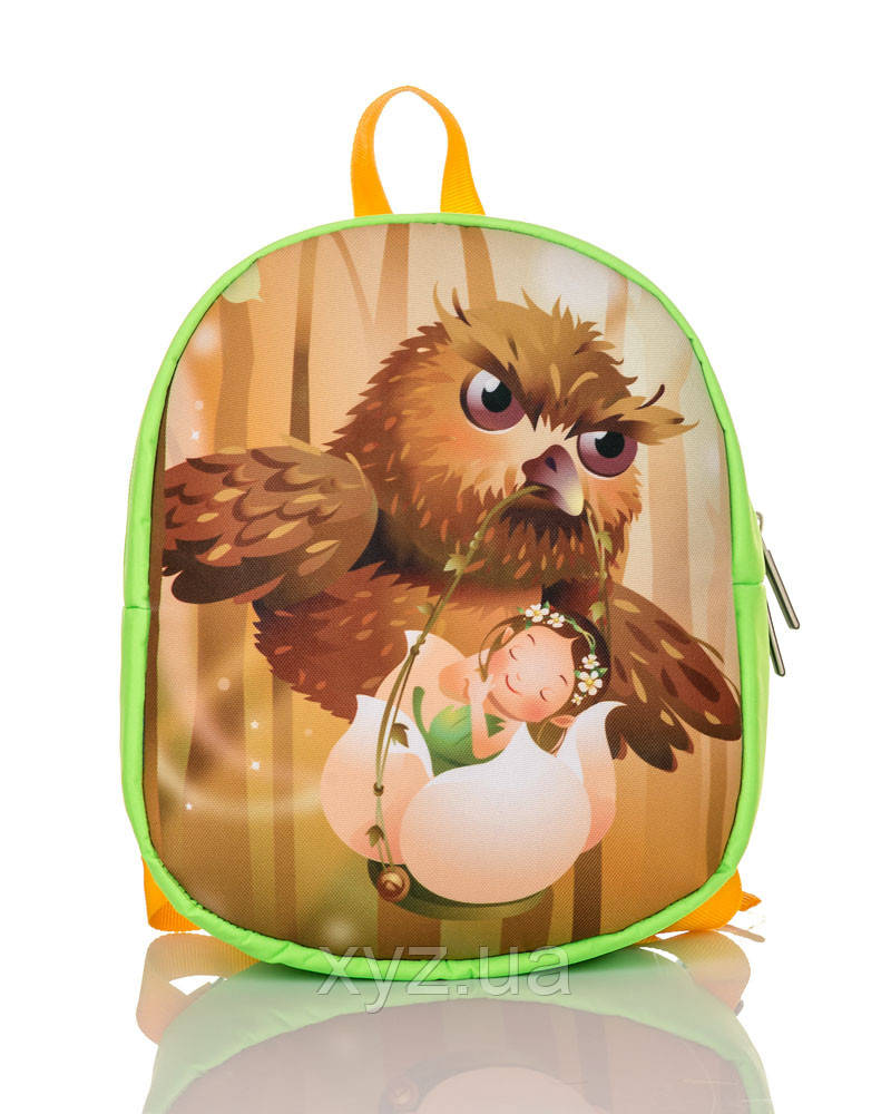Рюкзак детский салатовый Дюймовочка и филин TM XYZ, фото 1