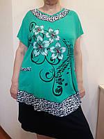 Стильная женская футболка с цветами