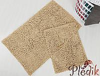 Набор ковриков для ванной хлопок 60х100+45х60 DROP BEJ