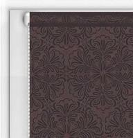 Готовые рулонные шторы Классические Металлик Принт Шоколад