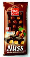 Шоколад черный с целыми орехами FIN CARRE Edel-Zartbitterschokolade 100г