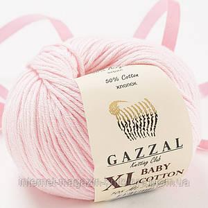 Пряжа Gazzal Baby Cotton XL Розовый