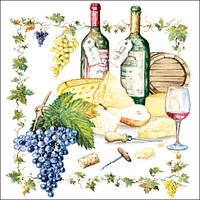 """Салфетки бумажные декоративные """" Wine And Cheese   """""""