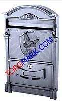 Пластиковый почтовый ящик с узором почтовый голубь (черный)