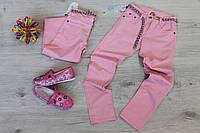 Розовые брюки джинсы для девочки подростка Турция размер 9-12 лет
