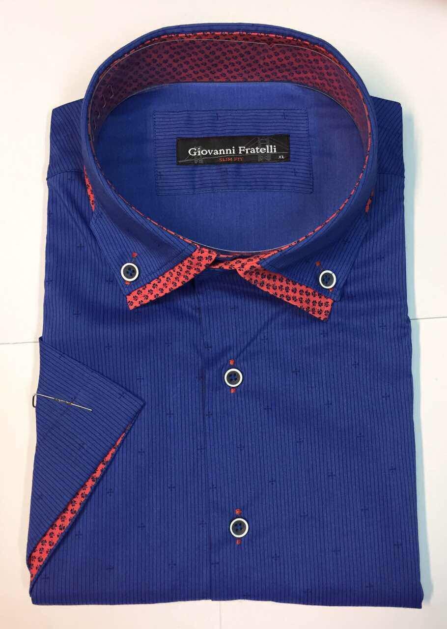 Рубашка мужская Giovanni Fratelli короткий рукав модель  8025SR K44