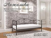 Кровать Анжелика. 80*190, Черный бархат