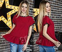 Стильная блуза из креп-шифона с кружевом