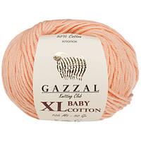 Пряжа Gazzal Baby Cotton XL Персиковый
