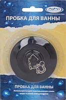 Arino Пробка для раковины черная 7,8/5 см