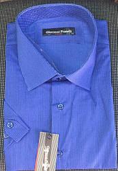 Рубашка мужская Giovanni Fratelli короткий рукав 8143 электрик