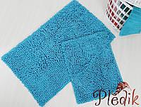Набор ковриков для ванной хлопок 60х100+45х60 DROP TURKUAZ