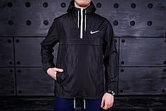 Мужская куртка анорак Nike President черная топ реплика