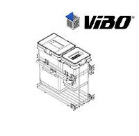 Сортер для мусора с доводчиком / 2 ведра / VIBO (Италия)