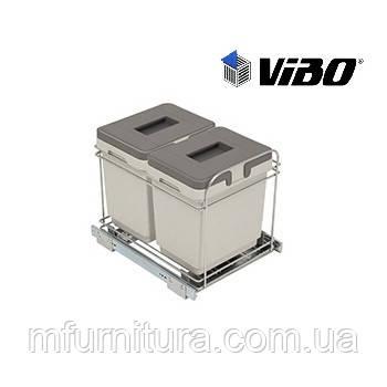 Сортер для мусора (модуль 400 мм)(2 ведра) - VIBO (Италия)