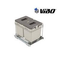 Сортер для мусора, 2 ведра * 15 л (400 мм) / VIBO (Италия)