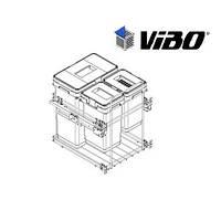 Сортер для мусора с доводчиком / 3 ведра / VIBO (Италия)