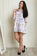 Платье-рубашка из турецкой рубашечной ткани в полоску