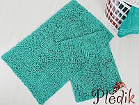Набор ковриков для ванной хлопок 60х100+45х60  DROP YESIL